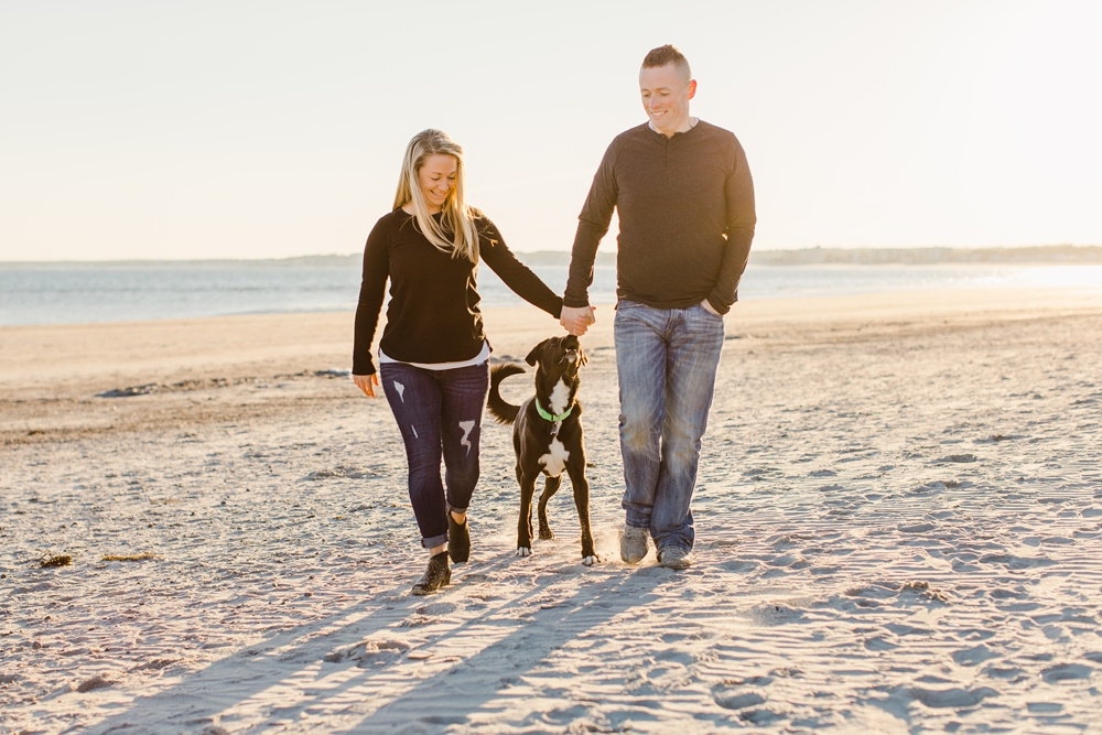 Pine Point Beach Scarborough Maine Engagement Photography